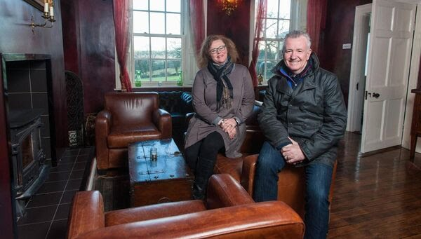 Lisa and Des McGahon at  Ballinacurra House. Picture: John Allen